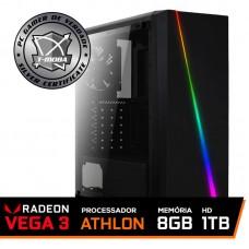 Pc Gamer T-moba Furious LVL-1 AMD Athlon 200GE / DDR4 8GB / HD 1TB / 500W