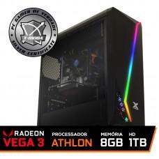 Pc Gamer T-moba Furious LVL-1 AMD Athlon 200GE / DDR4 8GB / HD 1TB