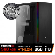 Pc Gamer T-moba Furious LVL-5 AMD Athlon 200GE / Radeon Rx 560 4GB / DDR4 8GB / HD 1TB