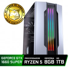 Pc Gamer Tera Edition AMD Ryzen 5 3400G / GeForce GTX 1660 Super 6GB / DDR4 8GB / HD 1TB