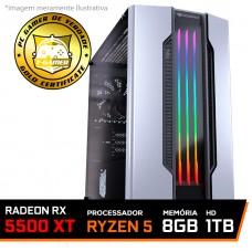 Pc Gamer Tera Edition AMD Ryzen 5 3600 / Radeon NAVI RX 5500 XT 4GB / DDR4 8GB / HD 1TB / 600W