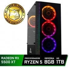 Pc Gamer Tera Edition AMD Ryzen 5 3600 / Radeon NAVI RX 5500 XT 8GB / DDR4 8GB / HD 1TB / 600W