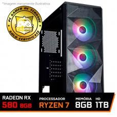 Pc Gamer Tera Edition AMD Ryzen 7 3700X / Radeon RX 580 8GB / DDR4 8GB / HD 1TB / 600W