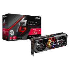 Placa de Vídeo Asrock Radeon Navi RX 5700 Phantom Gaming D 8G OC, Triple Fan, 8GB GDDR6, 256Bit, 90-GA1KZZ-00UANF