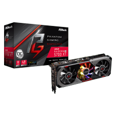 Placa de Vídeo Asrock Radeon Navi RX 5700 XT Phantom Gaming D 8G OC, Triple Fan, 8GB GDDR6, 256Bit, 90-GA1JZZ-00UANF