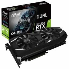 Placa de Vídeo Asus, Geforce, RTX 2080 Ti OC, DUAL, 11GB, GDDR6, 352Bit, DUAL-RTX2080TI-O11G