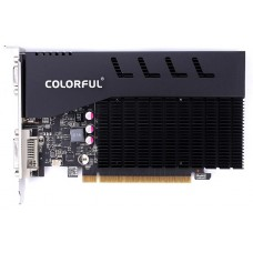 Placa de Vídeo Colorful, GeForce, GT 710, 1GB GDDR3, 64Bit, GT710 NF 1GD3-V