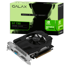 Placa de Vídeo Galax, GeForce GT 730, 4GB, DDR3, 64bit, 73GQS4HX00WG