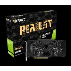 Placa de Vídeo Palit NVIDIA GeForce GTX 1660 Dual, 6GB, GDDR5, 192bit, NE51660018J9-1161C