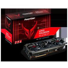 Placa de Vídeo PowerColor Red Devil Radeon RX 6700 XT, 12GB, GDDR6, FSR, Ray Tracing, AXRX 6700XT 12GBD6-3DHE/OC