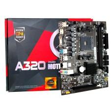 Placa Mãe AFox A320, Chipset A320, AMD AM4, mATX, DDR4, A320-MA-V2