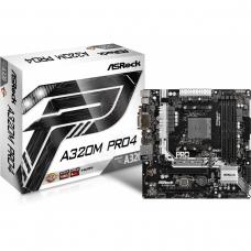 Placa Mãe ASRock A320M Pro4, Chipset A320, AMD AM4, mATX, DDR4