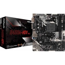 Placa Mãe ASRock B450M-HDV R4.0, Chipset B450, AMD AM4, mATX, DDR4