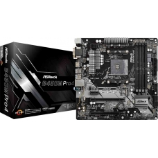 Placa Mãe ASRock B450M PRO4, Chipset B450, AMD AM4, mATX, DDR4