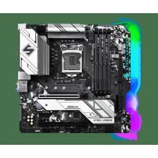 Placa Mãe AsRock B460M Steel Legend,Chipset B460M, Intel LGA 1200, mATX, DDR4, 90-MXBDQ0-A0UAYZ