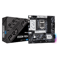 Placa Mãe ASRock B560M PRO4, Chipset B560, Intel LGA 1200, mATX, DDR4, 90-MXBEL0-A0UAYZ