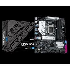 Placa Mãe ASRock H570M Pro4, Chipset H570, Intel LGA 1200, mATX, DDR4, 90-MXBFR0-A0UAYZ