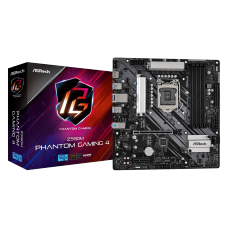 Placa Mãe ASRock Z590M Phantom Gaming 4, Chipset Intel Z590, Socket 1200, Micro ATX, DDR4