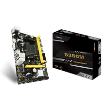 Placa Mãe Biostar B350M, Chipset B350, AMD AM4, mATX, DDR4