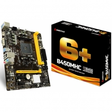 Placa Mãe Biostar B450MHC, Chipset B450, AMD AM4, mATX, DDR4