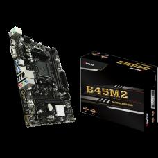 Placa Mãe Biostar B45M2, Chipset B350, AMD AM4, mATX, DDR4