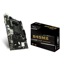 Placa Mãe Biostar B45M2, Chipset B350, AMD AM4, mATX, DDR4