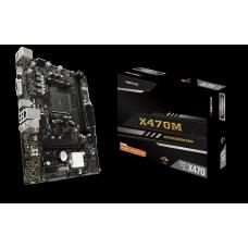 Placa Mãe Biostar Racing X470MH, Chipset X470, AMD AM4, mATX, DDR4 - Open Box