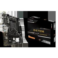 Placa Mãe Biostar Racing X470MH, Chipset X470, AMD AM4, mATX, DDR4