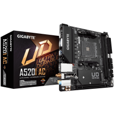 Placa Mãe Gigabyte A520I AC, Chipset A520, AMD AM4, Wi-Fi, Mini-ITX, DDR4, 9MA52IAC-00-11