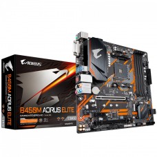 Placa Mãe Gigabyte B450M AORUS ELITE, Chipset B450, AMD AM4, mATX, DDR4