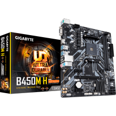 Placa Mãe Gigabyte B450M H, Chipset B450, AMD AM4, mATX, DDR4