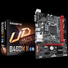 Placa Mãe Gigabyte B460M H, Chipset B460, Intel LGA 1200, mATX, DDR4, 9MB46MH-00-10