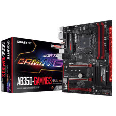 Placa Mãe Gigabyte GA-AB350-GAMING 3, Chipset B350, AMD AM4, ATX, DDR4