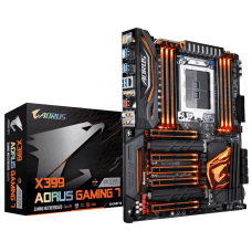 Placa Mãe Gigabyte X399 AORUS Gaming 7, Chipset X399, AMD TR4, ATX, DDR4