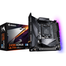Placa Mãe Gigabyte Z49I Aorus Ultra, Chipset Z490, Intel LGA 1200, Wi-Fi, Mini-ITX, DDR4 - Open Box