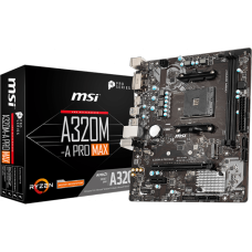 Placa Mãe MSI A320M-A Pro Max, Chipset A320, AMD AM4, mATX, DDR4