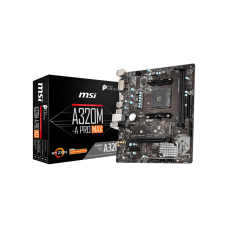 Placa Mãe MSI A320M-A PRO MAX, Chipset A320M, AMD AM4 RYZEN, mATX, DDR4