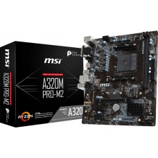 Placa Mãe MSI A320M PRO-M2 V2, Chipset A320, AMD AM4, mATX, DDR4