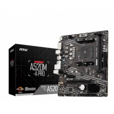 Placa Mãe MSI A520M-A PRO. Chipset A520, AMD AM4, mATX, DDR4, A520M-A PRO - IMP