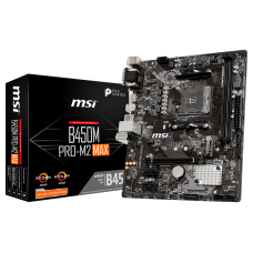 Placa Mãe MSI B450M PRO-M2 MAX, Chipset B450, AMD AM4, mATX, DDR4, 911-7B84-027