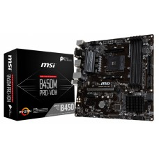 Placa Mãe MSI B450M PRO-VDH, Chipset B450, AMD AM4, mATX, DDR4