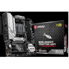 Placa Mãe MSI MAG B550M Mortar WIFI, Chipset B550, AMD AM4, mATX, DDR4