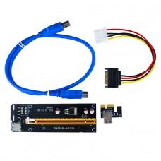 Placa Riser Card, USB 3.0, MOLEX, PCI-E 1X TO 16X, PCIE164P-M-BOARD VER006C