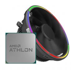 Processador AMD Athlon 200GE 3.2ghz Com Vídeo + Cooler Gamemax Gamma 200 RGB