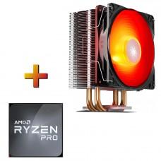 Processador AMD Ryzen 3 PRO 3200GE 3.3GHz Com Vídeo + Cooler DeepCool Gammaxx 400 V2 Red