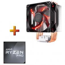 Processador AMD Ryzen 5 PRO 4650G 3.7GHz (4.2GHz Turbo) + Cooler Cooler Master Hyper H410R