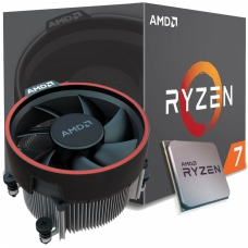 Processador AMD Ryzen 7 2700 3.2GHz (4.1GHz Turbo), 8-Cores 16-Threads, Cooler Wraith Spire com LED, AM4, YD2700BBAFBOX, S/ Video