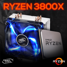Kit Processador AMD Ryzen 7 3800x 3.9ghz (4.5ghz Turbo), 8-core 16-thread, + Cooler DeepCool Gammaxx 400