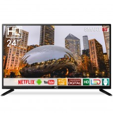 "Smart TV LED 24"" HD HQ HQSTV24NP Netflix Youtube HDMI USB Wi-Fi"