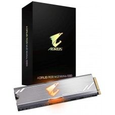 SSD Gigabyte Aorus RGB, 256GB, M.2 2280, NVMe, Leitura 3100MBs e Gravação 1050MBs, GP-ASM2NE2256GTTDR